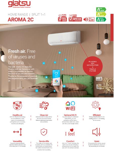 Giatsu Aroma 2C Techninės Specifikacijos