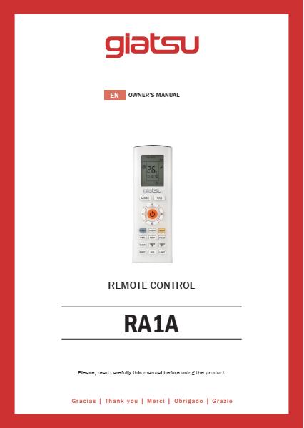 Instrukcija Giatsu Round R32 Valdymas